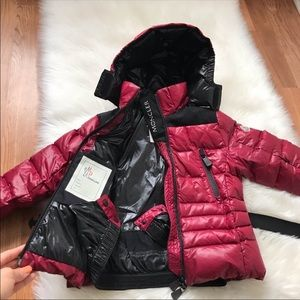 MONCLER Raspberry Pink Bady Puffer Down Coat 5